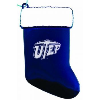 University of Texas at El Paso - Christmas Holiday Stocking Ornament - Blue