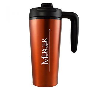 Mercer University -16 oz. Travel Mug Tumbler with Handle-Orange
