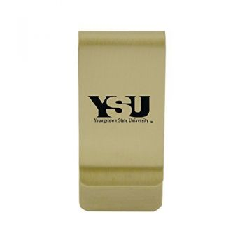 Yale University|Money Clip with Contemporary Metals Finish|Solid Brass|High Tension Clip to Securely Hold Cash, Cards and ID's|Silver