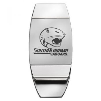 University of South Alabama - Two-Toned Money Clip - Silver