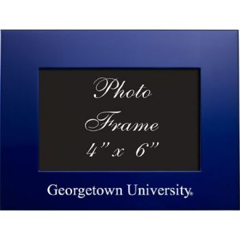 Georgetown University - 4x6 Brushed Metal Picture Frame - Blue