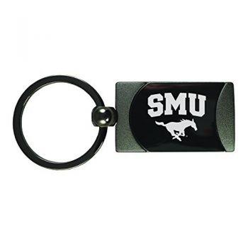 Southern Methodist University -Two-Toned Gun Metal Key Tag-Gunmetal