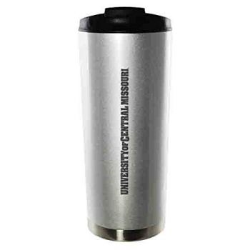University of Central Missouri-16oz. Stainless Steel Vacuum Insulated Travel Mug Tumbler-Silver