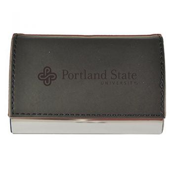 Velour Business Cardholder-Portland State University-Black
