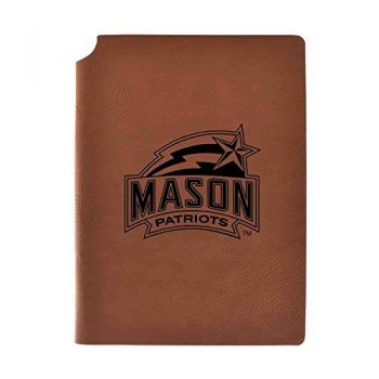 George Mason University Velour Journal with Pen Holder|Carbon Etched|Officially Licensed Collegiate Journal|
