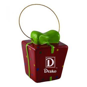 Drake University-3D Ceramic Gift Box Ornament