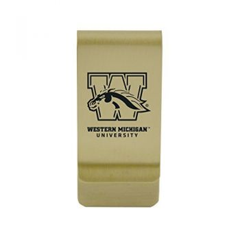 Western Kentucky University|Money Clip with Contemporary Metals Finish|Solid Brass|High Tension Clip to Securely Hold Cash, Cards and ID's|Silver