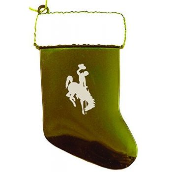 University of Wyoming - Christmas Holiday Stocking Ornament - Gold