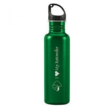 24 oz Reusable Water Bottle  - I Love My Rottweiler