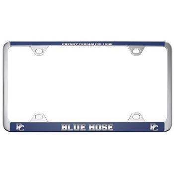 Presbyterian College -Metal License Plate Frame-Blue