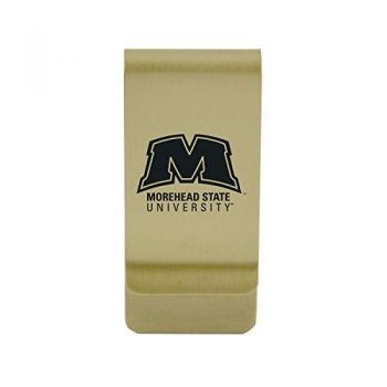 University of Montevallo|Money Clip with Contemporary Metals Finish|Solid Brass|High Tension Clip to Securely Hold Cash, Cards and ID's|Silver