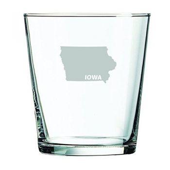 13 oz Cocktail Glass - Iowa State Outline - Iowa State Outline