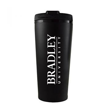 Bradley University -16 oz. Travel Mug Tumbler-Black