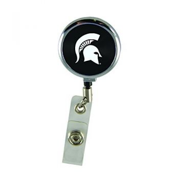 Michigan State University-Retractable Badge Reel-Black
