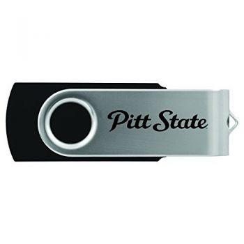 Pittsburg State University -8GB 2.0 USB Flash Drive-Black