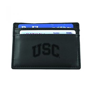 University of Southern California-European Money Clip Wallet-Black