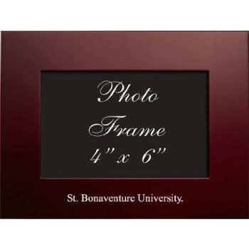 Saint Bonaventure University - 4x6 Brushed Metal Picture Frame - Burgundy