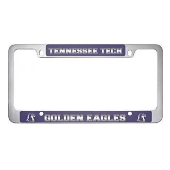 Tennessee Technological University -Metal License Plate Frame-Purple