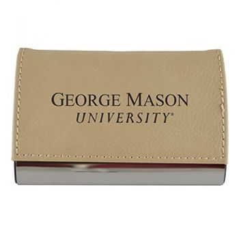 Velour Business Cardholder-George Mason University-Tan