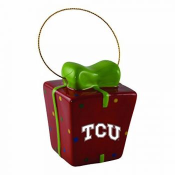 Texas Christian University-3D Ceramic Gift Box Ornament