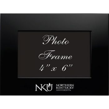 Northern Kentucky University - 4x6 Brushed Metal Picture Frame - Black
