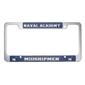 United States Naval Academy -Metal License Plate Frame-Blue