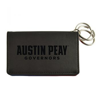 Velour ID Holder-Austin Peay State University-Black
