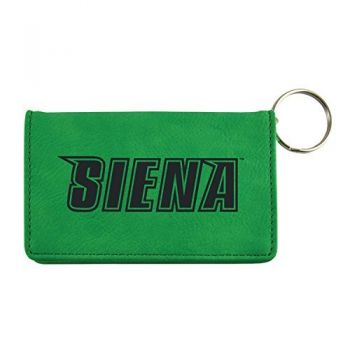 Velour ID Holder-Siena College-Green