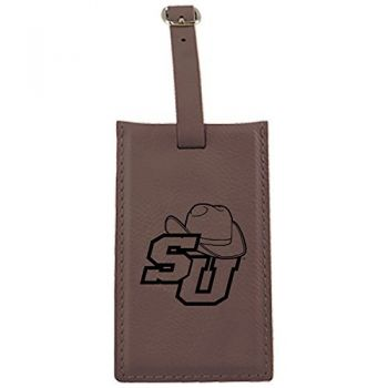 Stetson University -Leatherette Luggage Tag-Brown