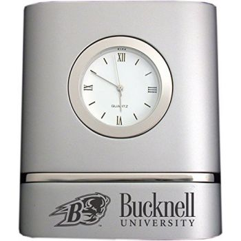 Bucknell University- Two-Toned Desk Clock -Silver