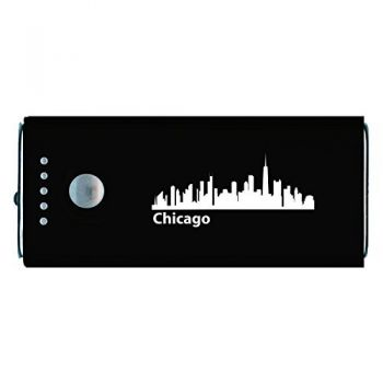 Chicago, Illinois-Portable Cell Phone 5200 mAh Power Bank Charger-Black