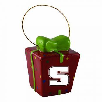 Slippery Rock University-3D Ceramic Gift Box Ornament