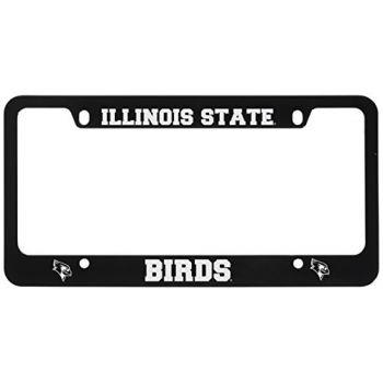 Illinois State University-Metal License Plate Frame-Black