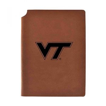Virginia Tech Velour Journal with Pen Holder|Carbon Etched|Officially Licensed Collegiate Journal|