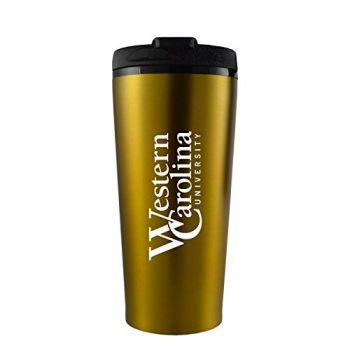 Western Carolina University -16 oz. Travel Mug Tumbler-Gold