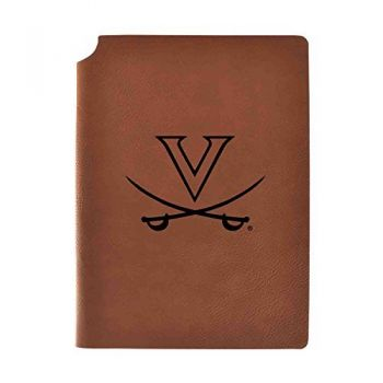 University of Virginia Velour Journal with Pen Holder|Carbon Etched|Officially Licensed Collegiate Journal|