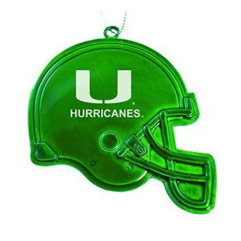 University of Miami - Christmas Holiday Football Helmet Ornament - Green