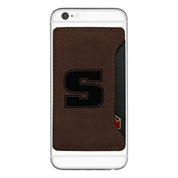 Slippery Rock University-Cell Phone Card Holder-Brown