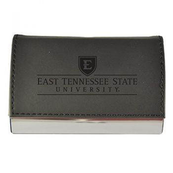 Velour Business Cardholder-East Tennessee State University-Black