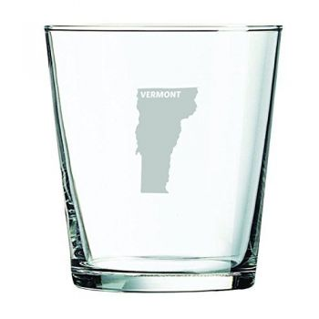 13 oz Cocktail Glass - Vermont State Outline - Vermont State Outline
