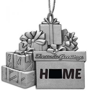 Colorado-State Outline-Home-Pewter Gift Package Ornament-Silver