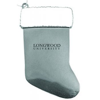 Longwood University - Chirstmas Holiday Stocking Ornament - Silver