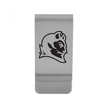 Central Connecticut University|Money Clip with Contemporary Metals Finish|Solid Brass|High Tension Clip to Securely Hold Cash, Cards and ID's|Gold