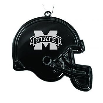 Mississippi State University - Chirstmas Holiday Football Helmet Ornament - Black