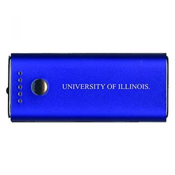 University of Illinois -Portable Cell Phone 5200 mAh Power Bank Charger -Blue