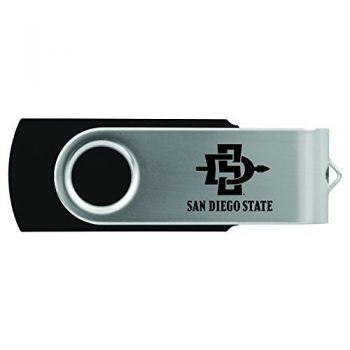 San Diego State University -8GB 2.0 USB Flash Drive-Black