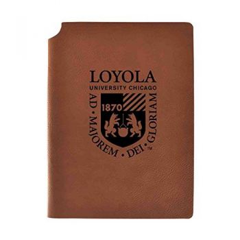 Loyola University Chicago Velour Journal with Pen Holder|Carbon Etched|Officially Licensed Collegiate Journal|