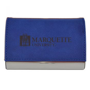 Velour Business Cardholder-Marquette University-Blue