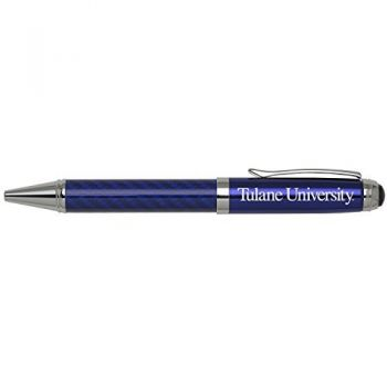 Tulane University -Carbon Fiber Ballpoint Pen-Blue