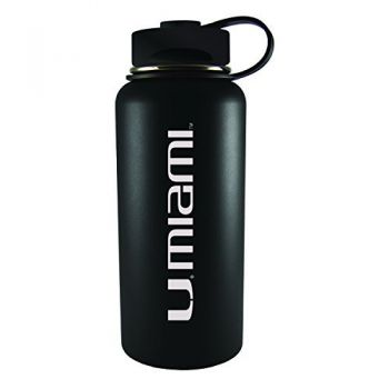 University of Miami -32 oz. Travel Tumbler-Black